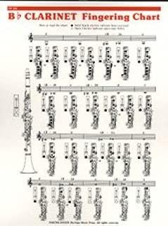 Music Treasures Co. B-flat Clarinet Fingering Chart