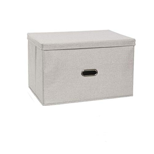 XuBa Pliante carrée Utilitaire de Stockage Box Tissu Cube Organiseur de tiroir Tissu Panier Sac, Gris Clair, Taille L