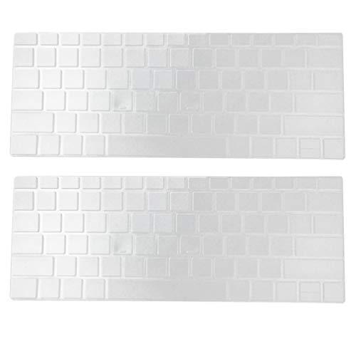 ibasenice — Capa transparente de silicone para teclado – 2 peças de película protetora de teclado ultrafina compatível com Surface Pro 4/5/6 de 12,3 polegadas