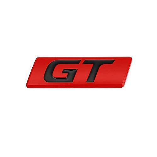 Emblema De Repuesto Etiqueta engomada del coche GT Badge Emblem Calcomanías compatibles con Peugeot Hyundai GT BMW FORD FOCUS MONDEO KIA FORTE Optima Picanto Stinger Sorento Renault Placa de nombre