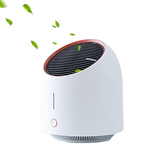 SASKATE Purificador de aire casero, filtro de aire HEPA silencioso, purificador de aire de escritorio USB para eliminar el polvo de la caspa de las mascotas