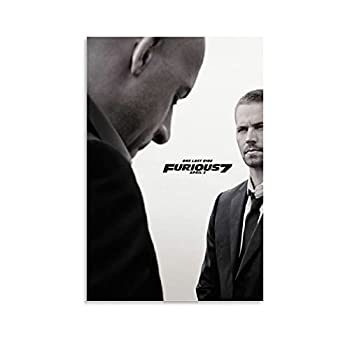 SDFGO Fast and Furious Fast and Furious 7 Poster Paul Walker Canvas Art Poster and Wall Art Picture Print Modern Family Bedroom Decor Posters 12x18inch 30x45cm