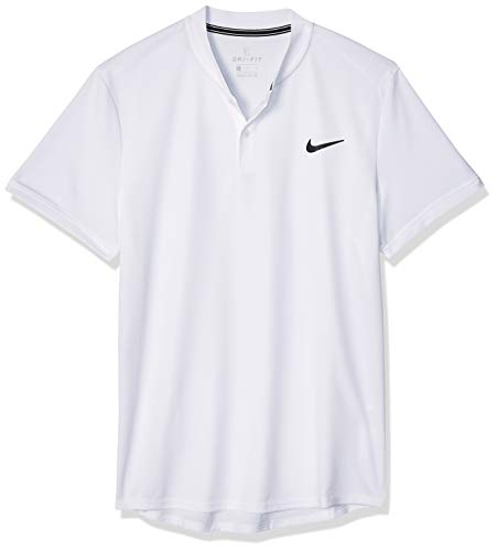 Nike M NKCT Dry Polo Blade Chemise Homme, White/(Black), FR (Taille Fabricant : XS)