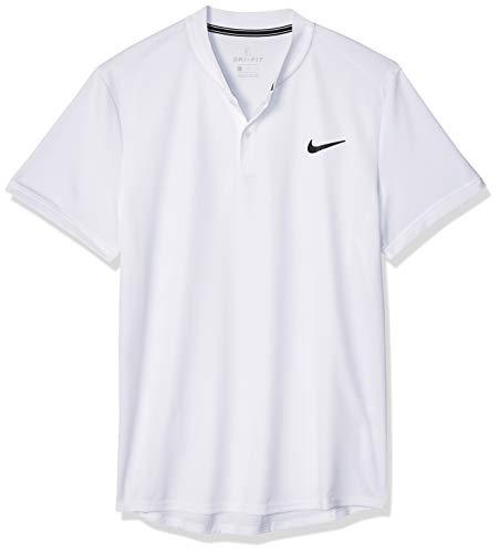 NIKE M Nkct Dry Polo Blade Camiseta, Hombre, White/Black, S