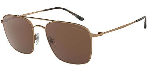Giorgio Armani 0AR6080 Gafas de sol, Matte Brushed Bronze, 55 para Hombre