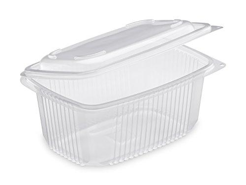 Guillin–ondipack OK1050 Pack di 50scatole microonde con Coperchi cerniera, Plastica, Trasparente, 18.5x 13.5x 8.4cm