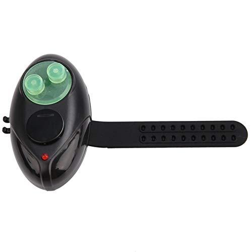 DAUERHAFT Alarma de caña de diseño de Ranura Suave Alarma de Pesca Negro, para caña de mar con cinturón Ajustable