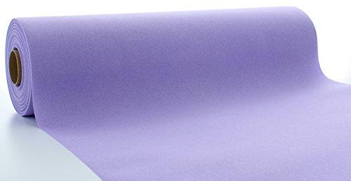 Sovie HORECA Linclass® Airlaid Tischläufer 40 cm x 24 m | Tischdecken-Rolle stoffähnlich | praktische Einmal-Tischdecke für Hochzeit oder Partys | Lila