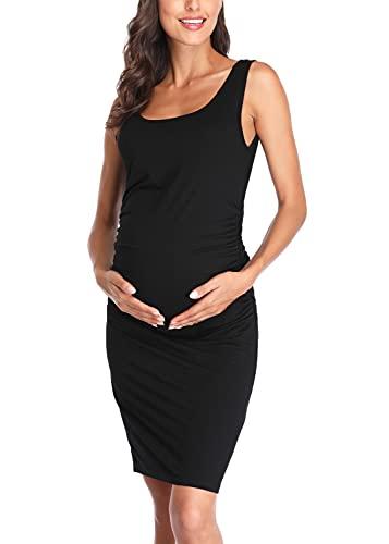 pigiama donna vestito Joweechy Donna Abito prémaman Senza Maniche Vestito maternità Allattamento Camicia da Notte Pigiama Gravidanza B/S
