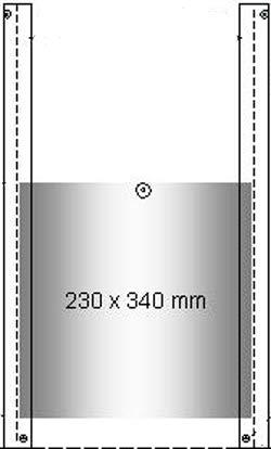 Hühnerklappe - Schieber für Hühnerhaus (230x340 mm)