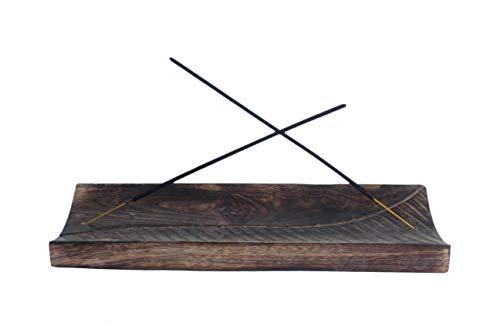 Kaizen Casa - Plato para quemador de incienso, madera con so