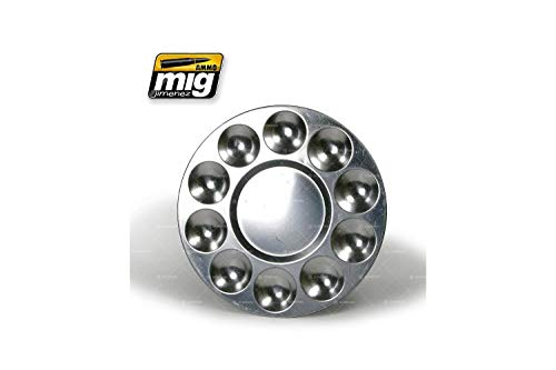 AMMO Munition mig-8009Aluminium Palette (10Wells), Mehrfarbig