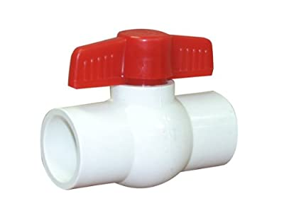 "Valterra 700-10 PVC Ball Valve, White, 1"" Slip by Valterra Products"