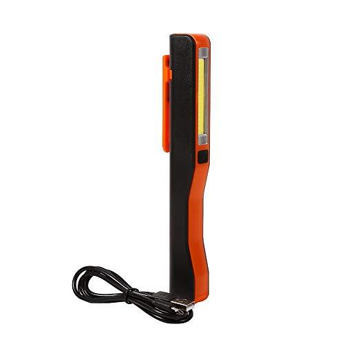 Luz de trabajo LED COB ligera y protegida de material ABS de 3 W, muy brillante, con cable USB, para comprobar el vehículo, reparación para uso doméstico (rojo)