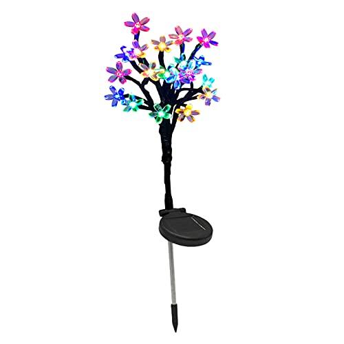 FLAMEER Luces solares de jardín al Aire Libre, Luces solares de Flores Multicolores LED Luces de estaca Solar para la decoración del del Patio del