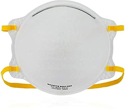 NIOSH Certified Makrite 9500-N95 Pre-Formed Cone Particulate Respirator Mask, M/L Size (Pack of 20 Masks) by Makrite Industries Inc.