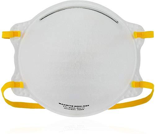 niosh n95 masks TITAN PROTECT NIOSH Certified MAKRITE 9500-N95 Pre-Formed Cone Particulate Respirator Mask, M/L Size (Pack of 20 Masks)