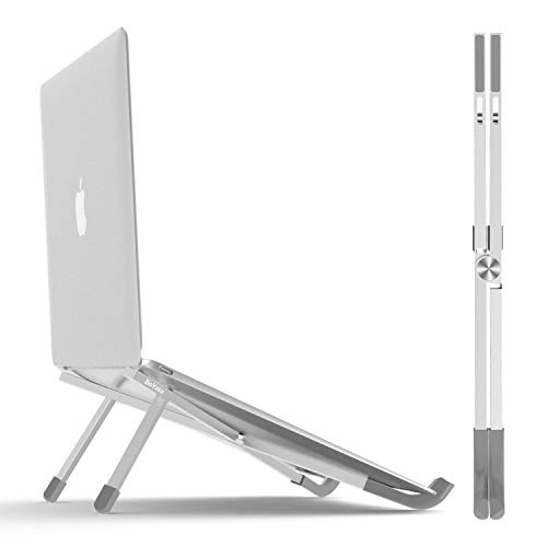 BoYata Laptop Stand, Foldable Lightweight Laptop Riser Tablet Stand, Portable Ventilated Desktop Laptop Holder for MacBook Pro/Air, Notebook and Other 11-15.6inch Laptop PC Tablet