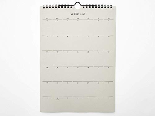 Grauer Papierkalender 2020/2021 | A4 Planer 2020/2021 | Wandkalender für Minimalisten | Geschenk für Einzug,Umzug, Semesterbeginn