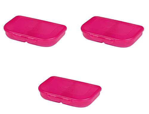 Herlitz Brotdose, pink (3 Stück, Pink)