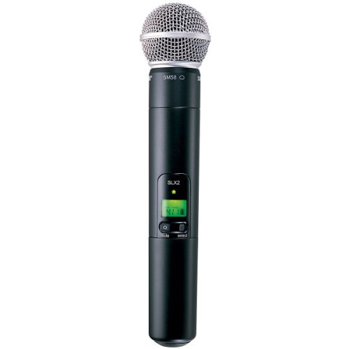 Shure SLX2/SM58 Wireless Handheld Microphone Transmitter with SM58 Capsule (Receiver Sold Separately)