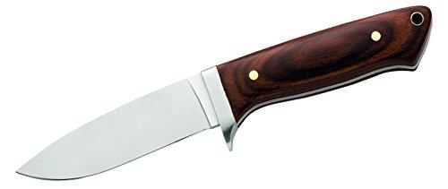 Herbertz Unisex– Erwachsene Messer Gürtelmesser Pakkaholz Lederscheide Gesamtlänge: 21.0cm, grau, M