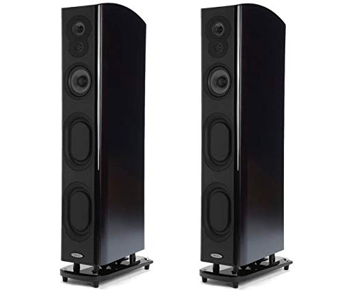 Polk Audio Home Theater System | 2 LSiM707 Flagship Floor-Standing Tower Speakers (Midnight Mahogany)