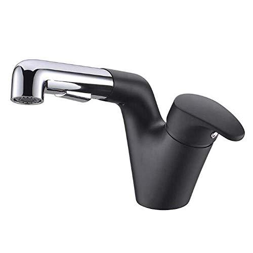 Bradoner Grifo extraíble negro grifo caliente y frío grifos grifo lavabo grifo telescópico multifunción líder champú de