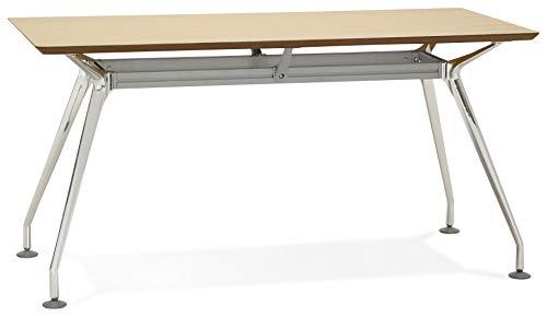 Krush 150 - Escritorio de diseño natural, 70 x 150 x 75,3 cm