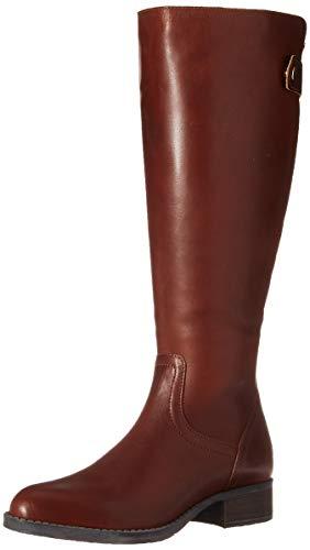 Steve Madden Women's Journal Hiking Boot, Cognac Leather, 6 W US