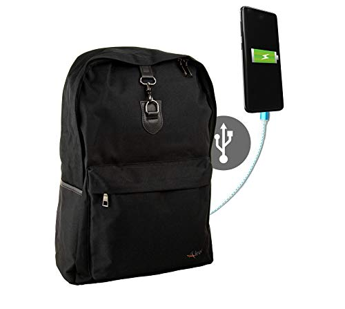 Airel Rucksack USB | Rucksack USB Port | Rucksack USB 15,6 | USB Rucksack Klein| USB Rucksack Massnahmen: 44x32x14 cm
