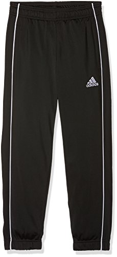adidas Kinder Core 18 Trainingshose, Black/White, 128 (S)