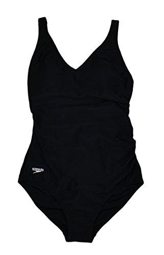 Speedo Ladies' Swimwear One Piece Swimsuit Black 6