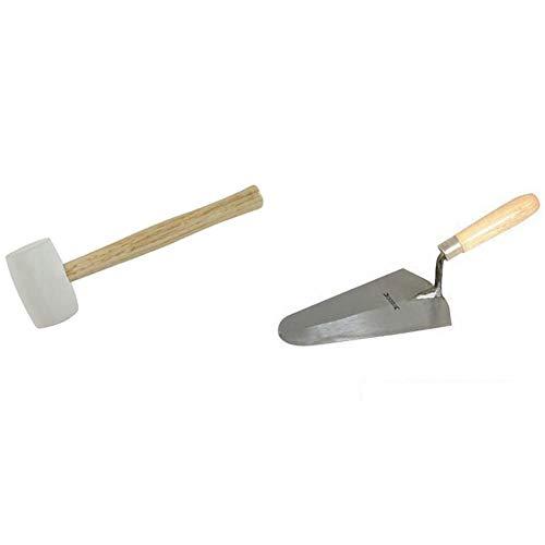 Silverline Tools 633608 Maceta de goma blanca 454 g + CB47 Paleta albañil (180 mm)
