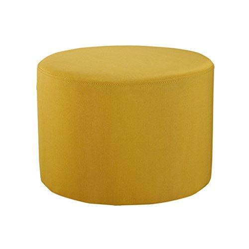 LLRDIAN Sofá de Tela Taburete sofá Banco Usar Zapatos Cambiar Zapatos Taburete Mesa de Centro Taburete Corto Sentarse Taburete Plegable para el hogar (Color : Amarillo)
