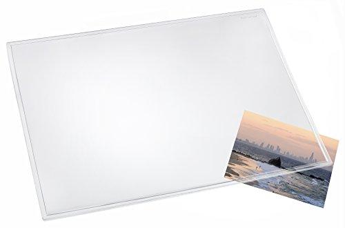 Läufer 43700 Durella transparent glasklar, durchsichtige Schreibtischunterlage 50x70 cm, transparente Schreibunterlage für hohen Schreibkomfort