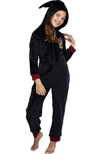 Harry Potter Gryffindor Niños Unisex con Capucha Pijama de una Sola Pieza Traje de...