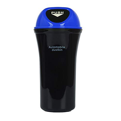 Chnrong Cubo de basura para coche con tapa, bolsa de basura para automóviles, contenedor plegable para coche con bolsillos de almacenamiento, universal impermeable a prueba de fugas