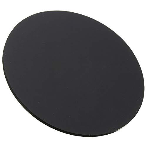 Wzqwzj Schwarz Plexiglas rundes Brett, Acrylblatt, Kunststoffplatte, für DIY Zubehör, Stärke: 10 mm,Diameter:400mm