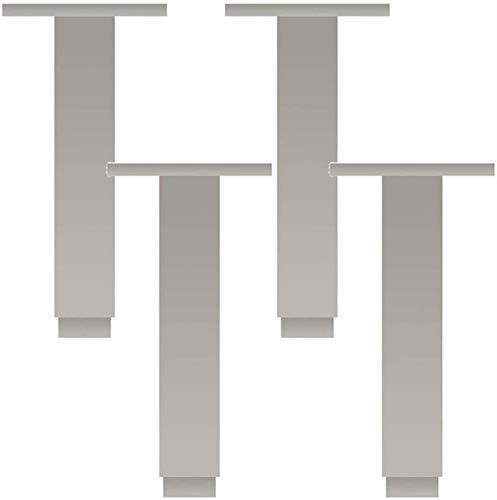 Patas de muebles Patas de metal Cuadradas de aleación de aluminio de alta resistencia Mesa de armario Armarios de cama Pies de armario de sofá Altura ajustable 06 cm Capacidad de carga 500 kg por