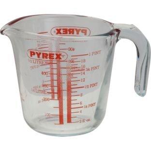 Absoluta facilidad de uso, jarra medidora de cristal de 0,5 litros.