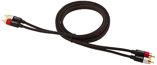 AmazonBasics 2-Male to 2-Male RCA Audio Stereo Subwoofer Cable - 4 Feet