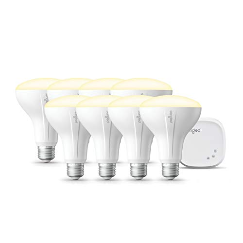 Sengled Smart light Bulb Starter Kit, Smart Bulbs that Work with Alexa & Google Home, Smart Bulb BR30 Alexa Light Bulbs, Smart LED Soft White Light, 9W (65W Equivalent), 8 Smart Bulbs & 1 Smart Hub
