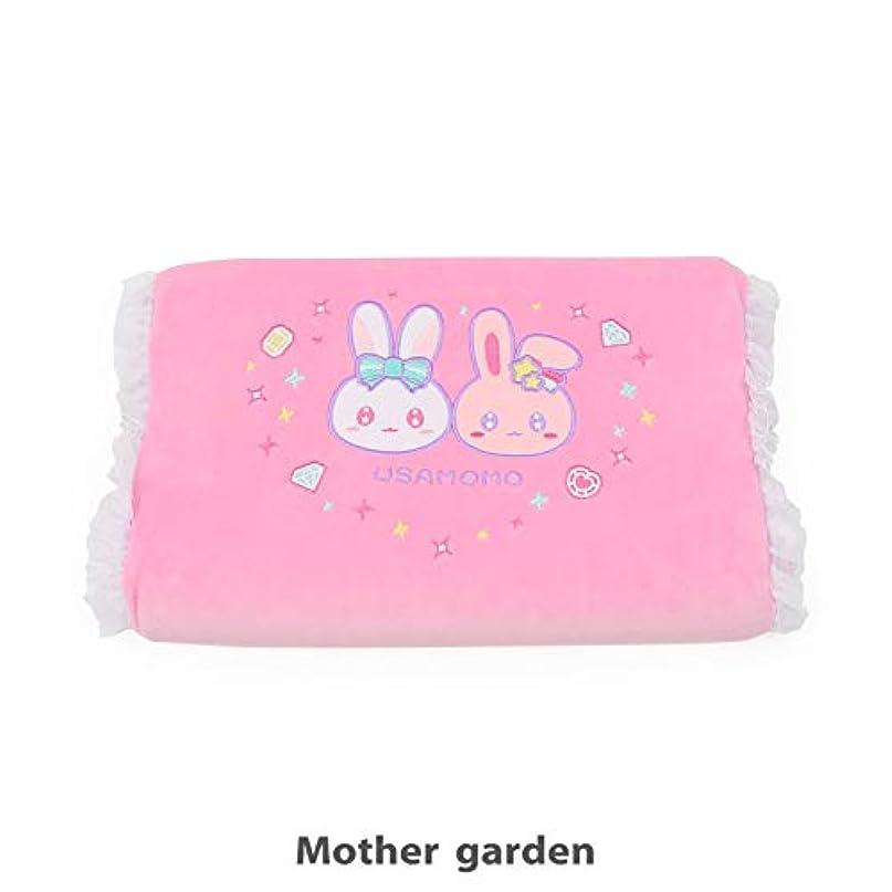 ナース経験的特徴づけるマザーガーデン Mother garden うさももちゃん 子供用枕 低反発 コスメ柄 ピンク