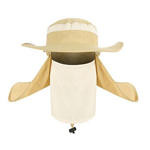 Dealit Pesca Estate Sport Escursionismo Visiera del Cappello di Protezione UV del Collo del Fronte all\'Aperto Cappelli di Copertura Solare Cap