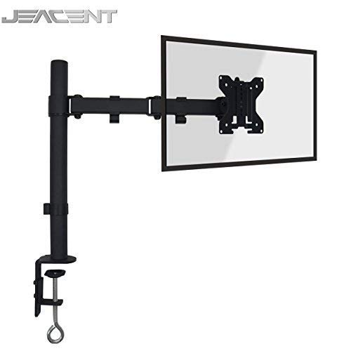 """Jeacent Monitor Desk Mount Stand LCD Computer Fully Adjustable Arm for Single Screen 13"""" to 27"""" 22 lbs"""