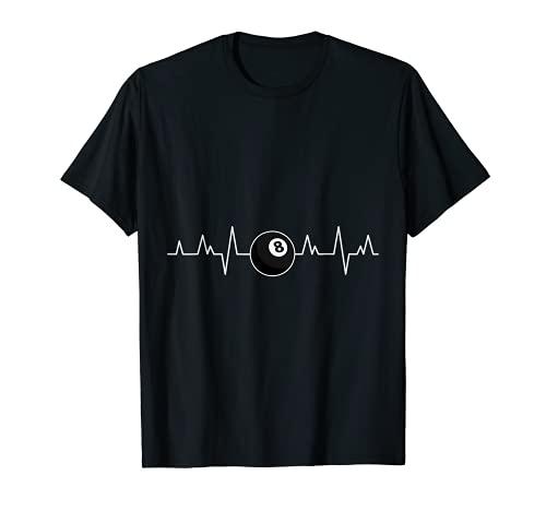Piscina Players Heartbeat Art Billar Ropa 8 Ball Pool Camiseta