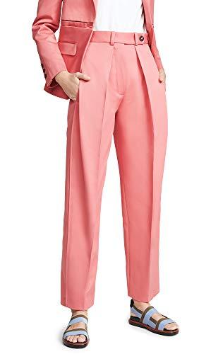 Cedric Charlier Women's Wide Leg Trousers, Fuschia, Pink, 38