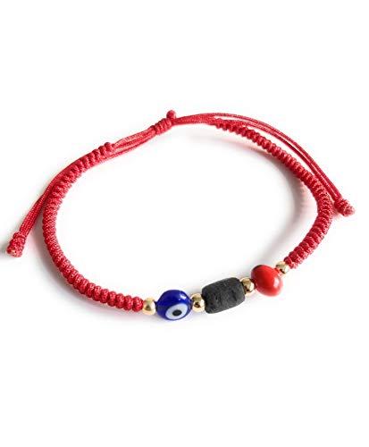 Powerful Prosperity Red Unisex Bracelet Evil Eye Peonia Real Azabache...