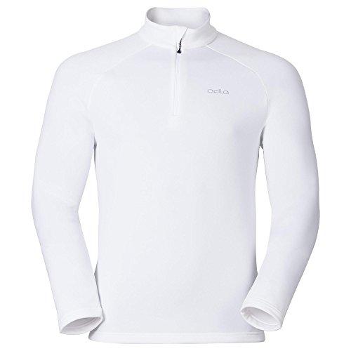Odlo Snowbird Midlayer 1/2 Zip Sweat-Shirt À Capuche Sport, Multicolore (White 10000), XX-Large Homme